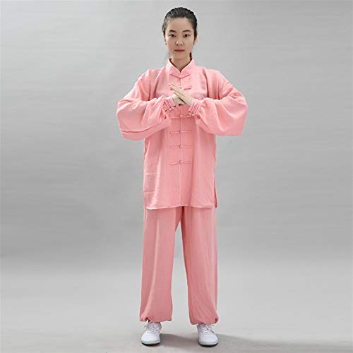 BAJIE Tai Chi Uniforme Ropa Marcial Letras Tradicional Hombres Mujer Vestir Shaolin ala Chun Taekwondo Algodón Formación Ropa (Color : U, Size : XXXL)