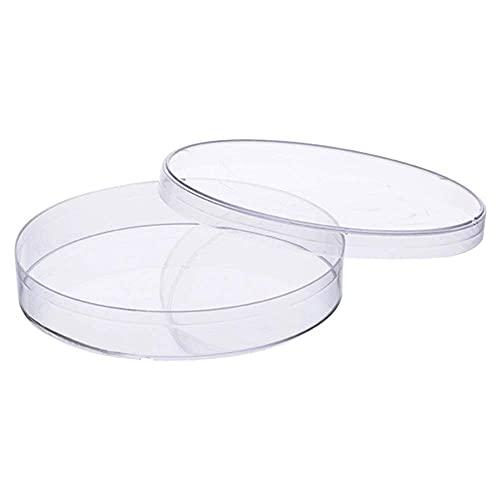 HCFSUK Platos de Petri de plástico con Tapas, 20 Piezas, Platos de Cultivo bacteriano para Laboratorio Escolar, proyectos de Feria de Ciencias, Experimento de Laboratorio