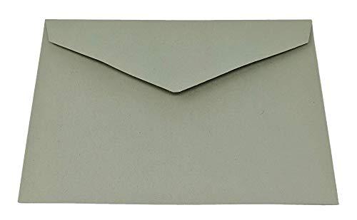 50 grüne recycelte Briefumschläge - DIN C6-114 x 162 mm - Kuverts mit Nassklebung ohne Fenster für Grußkarten & Einladungen