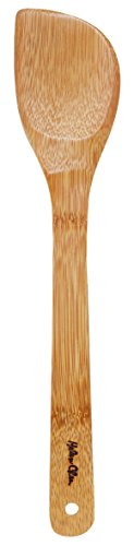 Helen's Asian Kitchen Left-Handed Stir Fry Spatula, 13 Inch, Natural Bamboo