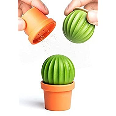 Novelty Salt and Pepper Shakers Cactus by Qualy Design Studio. Salt and Pepper Shaker in One. Great Decorative and Practical Accessory for Kitchen, Dining Room. Cool to Salt Tequila:)