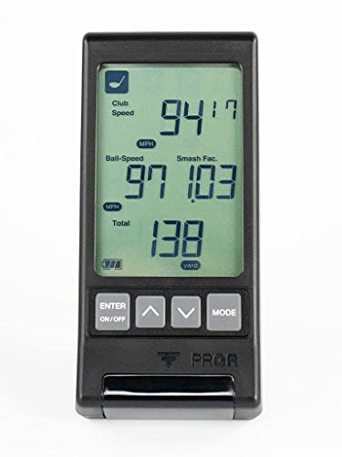 PRGR Black Pocket Launch Monitor HS-130A (New 2021 Model)