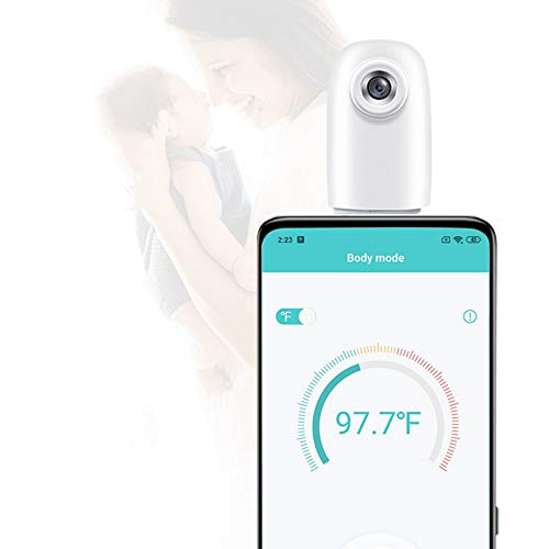 Smart Thermometer with App USB Portable No-Touch Accurate Thermometer Compatible with (ONLY) Android App, ONLY for Type-C Phone, ˚C/˚F Adjustable,Body/Object Temperature Thermometer for Kids, Adults