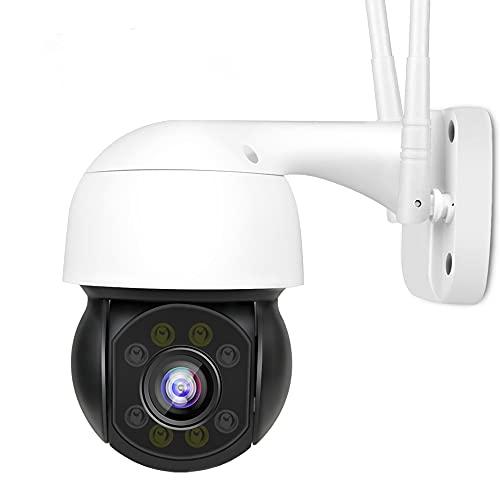 TechEase 360° Smart Home Office WiFi Camera Outdoor PTZ CCTV | 1080p (Full HD) Night Vision IP Security Camera Wireless IP66 Weatherproof |ONVIF | Microsd Card Slot | Camhi App