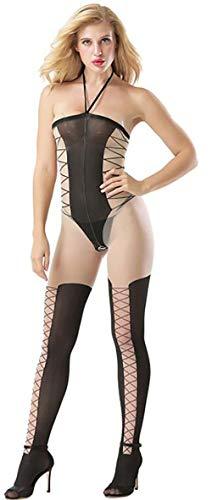 Atractivos para Mujeres Ropa Interior Calcetines calados Medias de Honda Pijamas,Una Talla,Negro