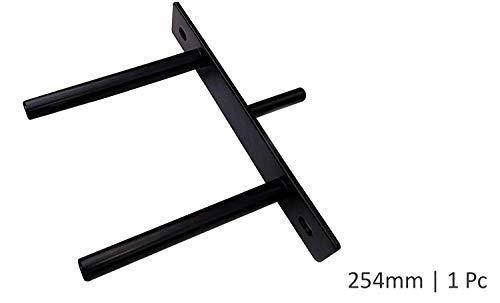 Color Negro estantes Ocultos industriales Soportes para Estante Flotante de 30 cm para estantes Ocultos 2 Unidades Soporte en T con Tornillos y Anclajes de Pared BUZIFU para Montaje en Pared