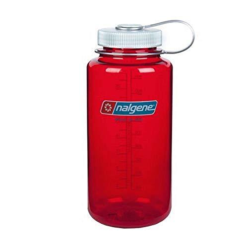 BPAFreeBottle (TM) NALGENE Tritan Wide Mouth 32oz BPA-Free Water Bottle - Red w/ White Cap