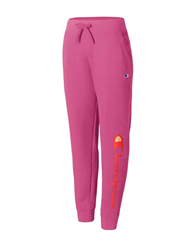 Champion Women's Powerblend Jogger, Peony Parade Pink-Y07459, X Large