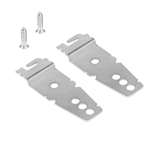 2 Pack Undercounter Dishwasher Bracket Replacement - Whirlpool -Compatible - Compare to 8269145/WP8269145 - Replacement Dishwasher Upper Mounting Bracket