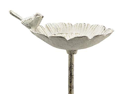 Ziegler Vogeltränke Rankstab Metall Gartendeko Gartenstecker H 87 cm grau 235262 F39
