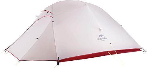 Naturehike Cloud-up Ultraleichte 3 Personen Rucksackreisen Zelt doppelten Wasserdicht Camping Zelt (20D Grau Aktualisierung)
