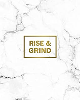 Rise & Grind: 2020-2024 Marble & Gold Five Year Monthly Planner & Organizer | Motivational 5 Year Agenda With 60 Months Spread View Calendar with To-Do's, Inspirational Quotes, Vision Boards & Notes