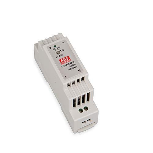 DR-15-12 LED Netzteil Trafo Hutschienen-Netzteil (DIN-Rail) Mean Well DR-15-12 12V/DC 15W LED Transformator für LED Beleuchtung