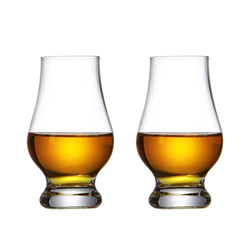 Bicchiere da Whisky in Cristallo, Bicchieri da Whisky Set di 2, Bicchieri per Bere Scotch, Bourbon, Irlandese, Birra, Cocktail Bicchieri...