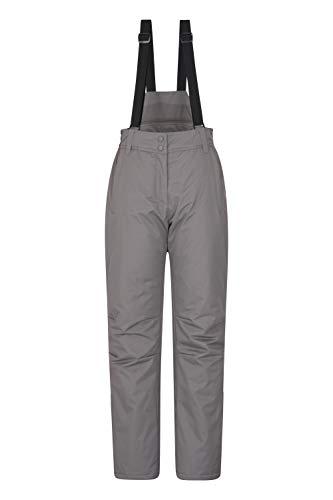 Mountain Warehouse Moon Pantaloni da Neve Donna - Resistenti all'Acqua, girovita Regolabile - Ideale Indumento da Sci, Invernale Grigio 42