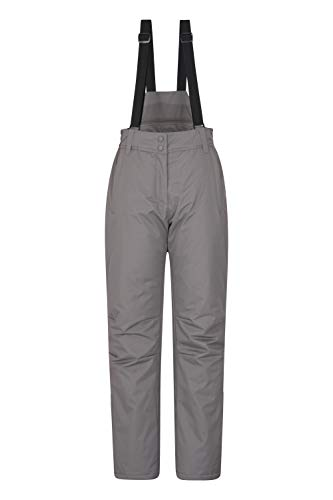 Mountain Warehouse Moon Skihose für Damen - Wasserabweisende Damenhose, Verstellbarer Bund, abnehmbare Träger, Taschen - Ideale Skibekleidung Im Winter Grau 36