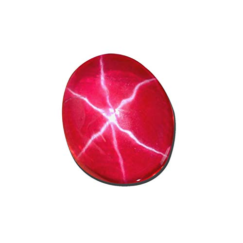 AAA+ Natural Stone Red Star Ruby 12.00 Carats. Certified Oval Shape Stone, Red Star Ruby Stone Loose Gemstone for Jewellery DZ-171