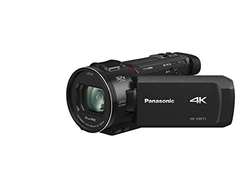 Panasonic HC-VXF11EG-K 4K Camcorder (LEICA DICOMAR Objektiv mit 24x optical zoom and 32x digital zoom, 4K und Full HD Video,mit Sucher,  optischer Bildstabilisator)