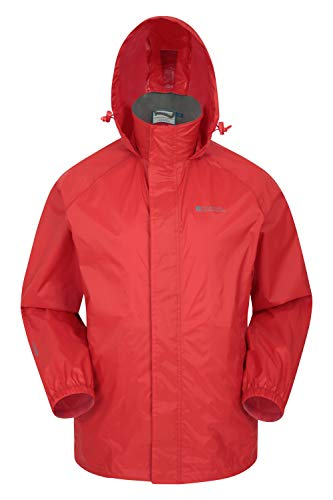 Mountain Warehouse Pakka Mens Waterproof Rain Jacket - Packable Red Large