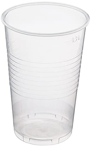 HEKU 30490, 50 Einweg-Trinkbecher, klar, 0,3l, PP