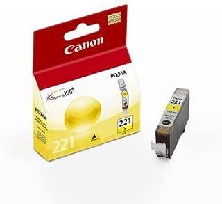 Canon CLI-221Y 2949B001AA iP3600 iP4600 iP4700 MP560 MP620 MP640 MP980 MP990 MX860 MX870 Ink Cartridge (Yellow) in Retail Packaging