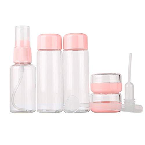 Junhouse Lot de 7 flacons de Voyage pour air et Produits de Toilette, Tubes Rechargeables, crème Liquide, shampooing, Parfum cosmétique, Maquillage, etc.