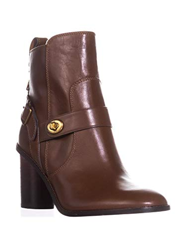 COACH Moto Bootie Dark Saddle Leather 7.5