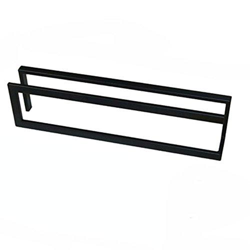 CHGDFQ Estante de hierro para zapatos, pequeño y simple estante de baño (color: negro, tamaño: 45 x 9 x 15 cm)