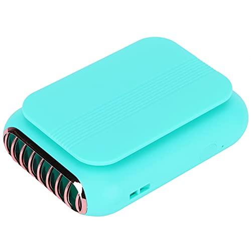 01 Ventola Portatile, Ventola USB Ricaricabile a Tre velocità di Regolazione Leggera per Lo Sport(Verde)