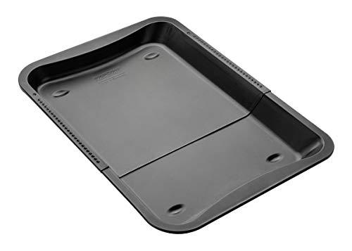 Zenker Ofenblech ausziehbar, rechteckiges Backblech mit Antihaft-Beschichtung zum Kuchenbacken (flexible Maße: 34,5-52 x 33 x 3 cm), Menge: 1 Stück
