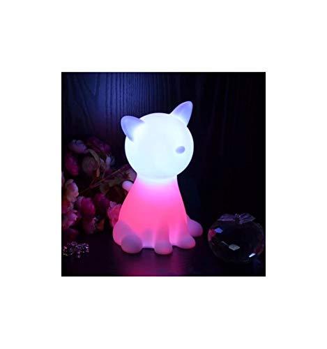 KOSILUM - Lampe de chevet chat LED sans fil multicouleurs - Lumière Blanc Chaud Eclairage Salon Chambre Cuisine Couloir - - - LED intégrée - IP20