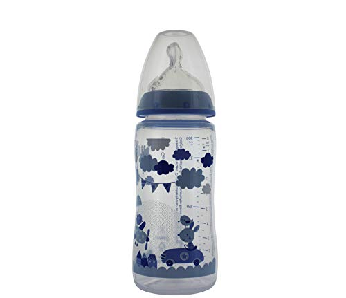 Nuk Biberão First Choice Baby Tetina Anticólica Silicone T1M 0-6M Blue 300ml