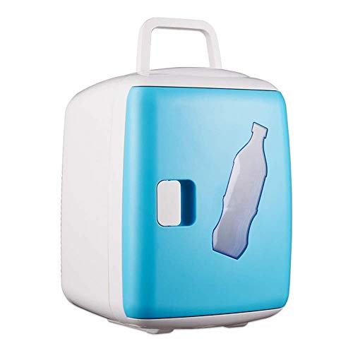TYUIO Mini réfrigérateur à Boisson compacte, idéal pour Garder au Frais Le déjeuner au Bureau et Quelques Boissons! (Color : Blue)