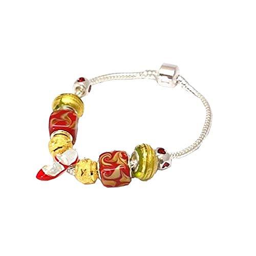 The Olivia Collection Beadz Stiletto rojo y oro encanto...