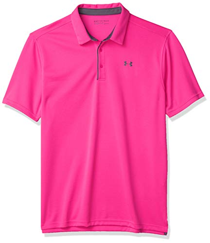 Under Armour Men's Tech Golf Polo , Pink Surge (687)/Pitch Gray , X-Large