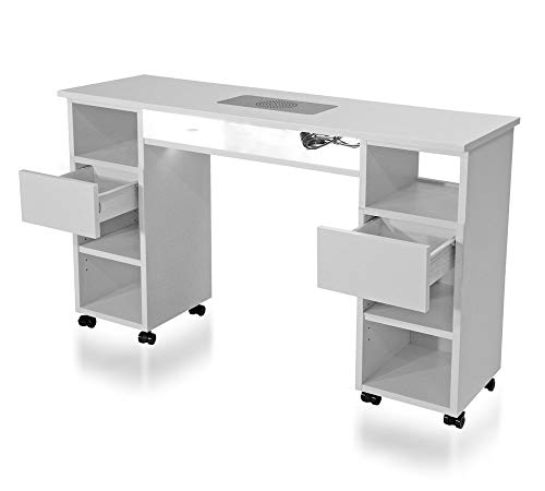 Manikürtisch, Nageltisch, Studiotisch mit Absaugung SA-30, Modell KT-30-6 mit Beleuchtung