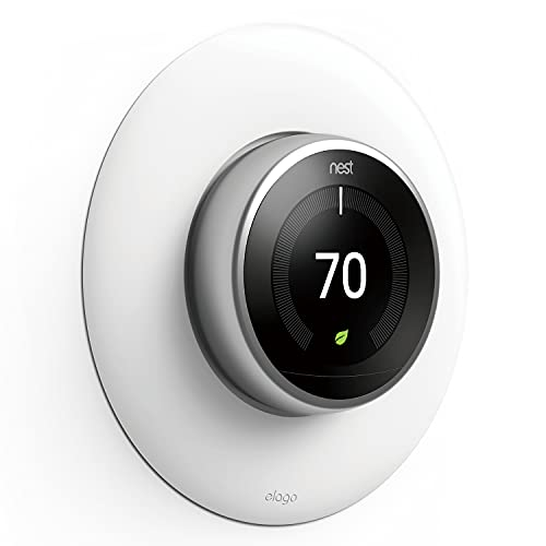 elago Wall Plate Cover Designed for Google Nest Learning Thermostat [White] - Compatible with Nest Learning Thermostat 1st/2nd/3rd Generation, Not Compatible with 2020 Models [US Patent Registered]