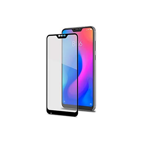 Celly Protector de Pantalla para Xiaomi Mi A2 Lite, Vidrio Cristal Templado Dureza 9H Antihuellas y Antiarañazos, Negro