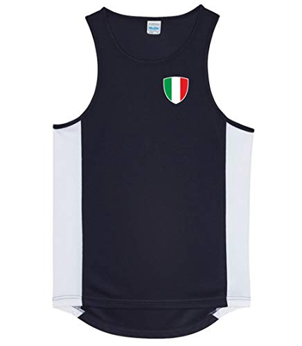 Nation Italien Trikot Tank Top Athletic Sport Gym ATH BR-SC (M)