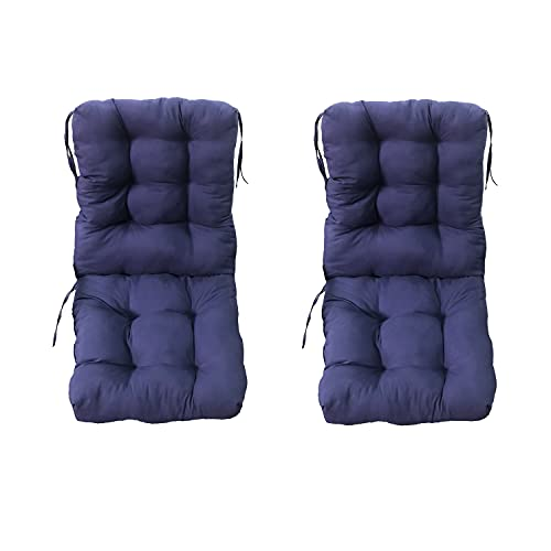 2 Cojines de sillas de Jardín. Cojines con Respaldo para sillas de terraza, Patio y jardín. Cojín 45 x 90 cm para sillas. (Azul)