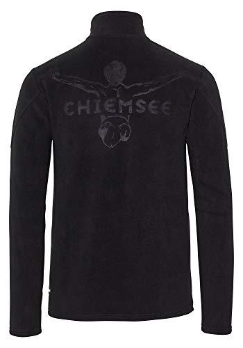 Chiemsee Herren Fleece, einfarbig Fleecejacke, Deep Black, M