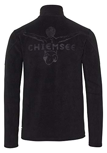 Chiemsee Herren Fleece, einfarbig Fleecejacke, Deep Black, S