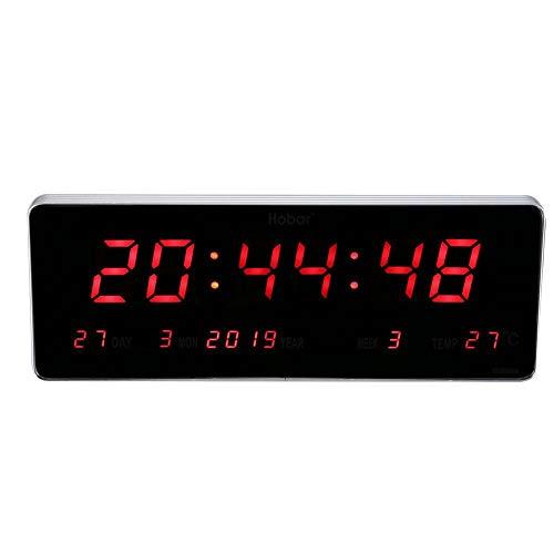 Orologio da parete digitale Orologio da tavolo a LED a tempo preciso Orologio da tavolo per soggiorno(Kalendertemperaturwoche)