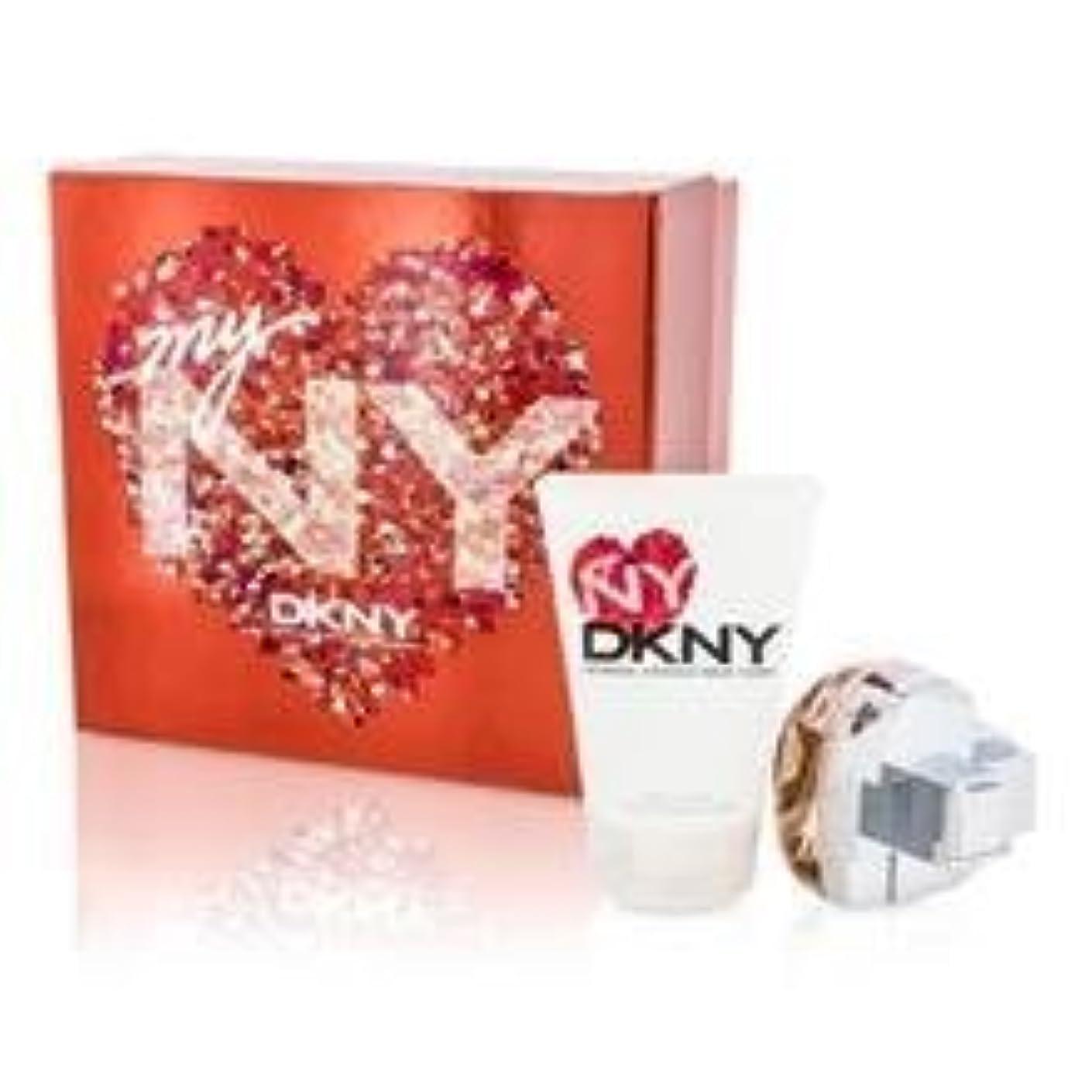 歴史盲信滑り台DKNY My NY The Heart Of The City Coffret: Eau De Parfum Spray 50ml/1.7oz + Body Lotion 100ml/3.4oz 2pcs並行輸入品