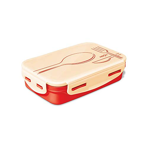 Milton Steely Deluxe Inner Steel Kids Tiffin Box, 525 ml, Orange