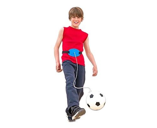 Betzold Komm-zurück-Fußball für Kinder, Kunststoff-Ball, Training, Gürtelgröße individuell einstellbar - Trainingsfußball Hallenball Ball Training Fußballtraining