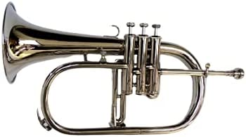 BRAND NEW NICKEL PLATED Bb FLAT 4 Discount mail order HARD C VALVE FLUGEL Max 85% OFF +FREE HORN