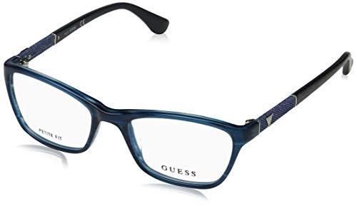 Guess Unisex-Erwachsene GU2594 087 49 Brillengestelle, Türkis (Turchese Luc)