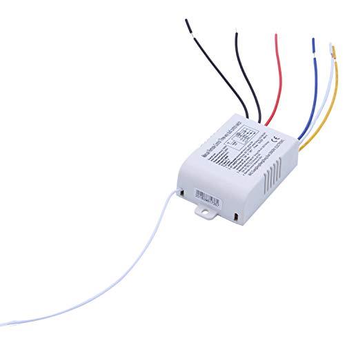 Kaxofang 220V Interruptor De Control Remoto Inalámbrico De 3 Canales Interruptor De Control Remoto Digital para Lámpara y Luz Suministros Eléctricos