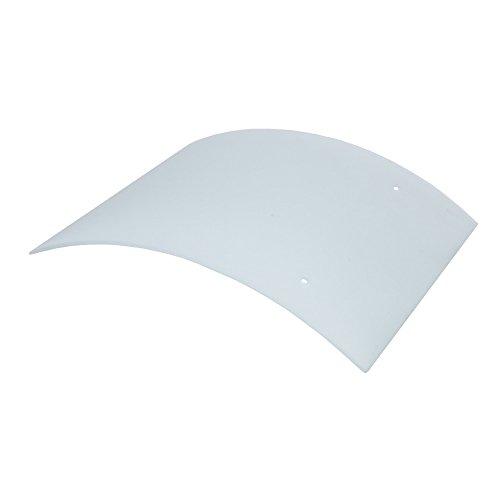 Lampenglas in Weiß leicht gebogene Form | Ersatzglas Lampenzubehör | Leuchten Glas für Wandlampe 27x22,5cm